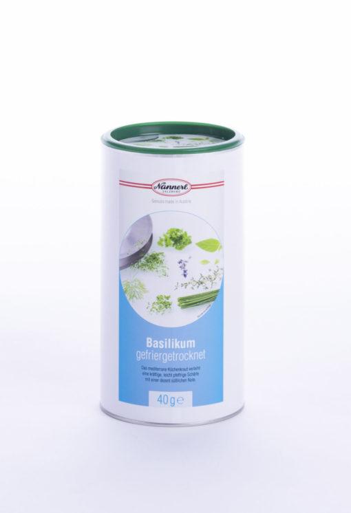 Verpackung Nannerl Basilikum gefriergetrocknet