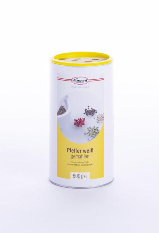Verpackung Pfeffer weiß gemahlen