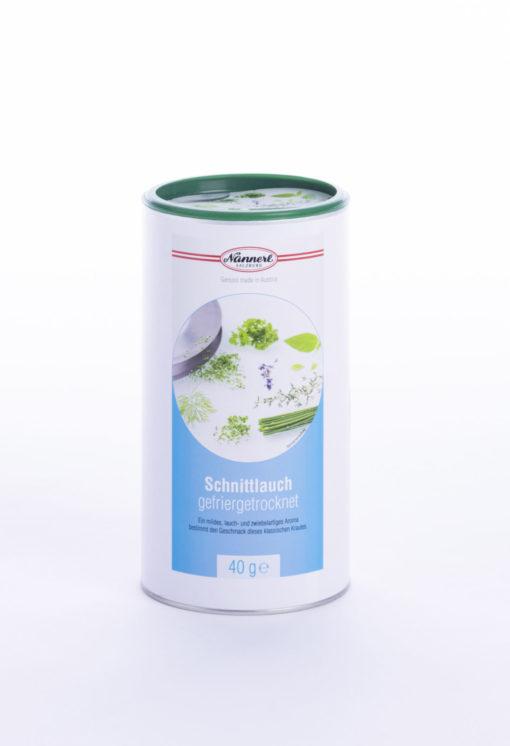 Verpackung Nannerl Schnittlauch gefriergetrocknet
